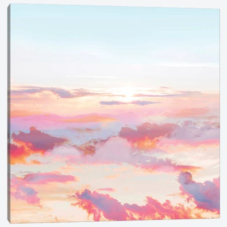 Blush Clouds Canvas Print #UMA318} by 83 Oranges Art Print