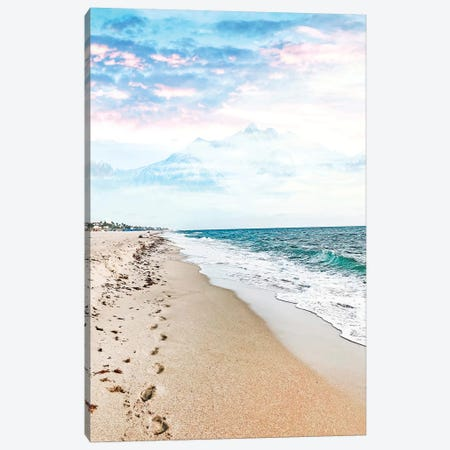 A Walk On The Beach Canvas Print #UMA321} by 83 Oranges Canvas Artwork