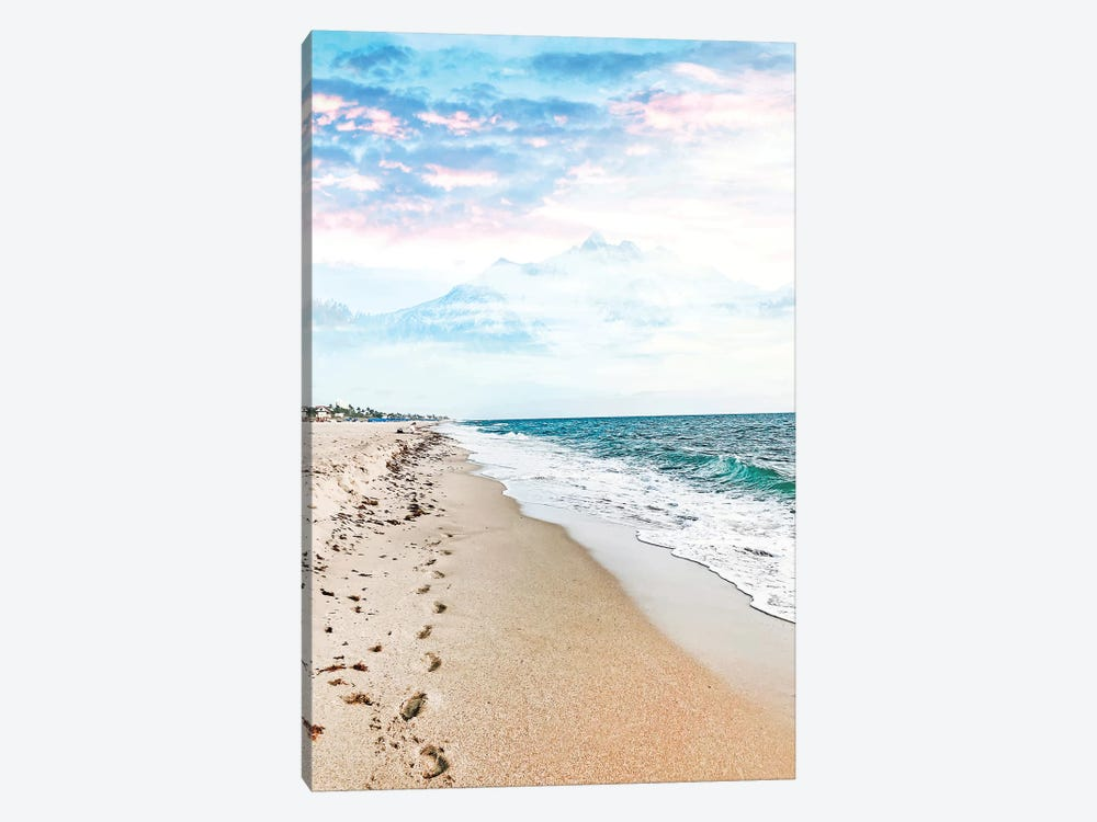 A Walk On The Beach by 83 Oranges 1-piece Canvas Print