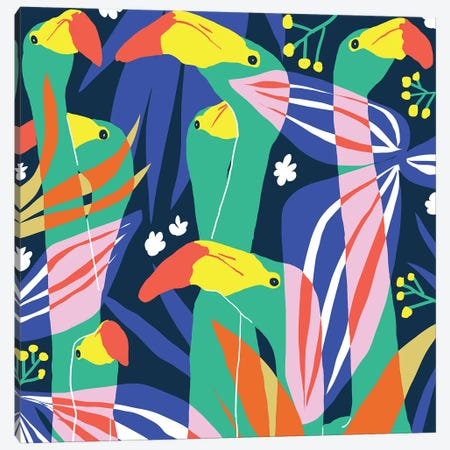 Don't Give A Flock Canvas Print #UMA364} by 83 Oranges Canvas Art Print