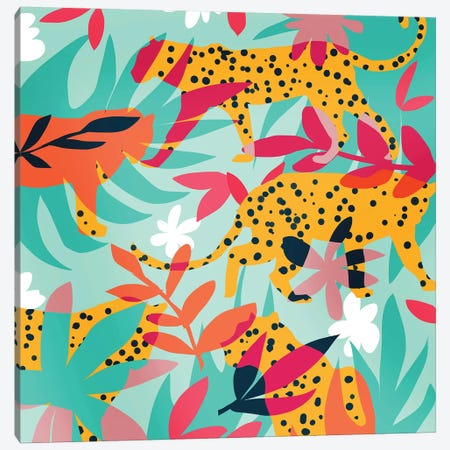 Chasing The Cheetah Canvas Print #UMA366} by 83 Oranges Canvas Print