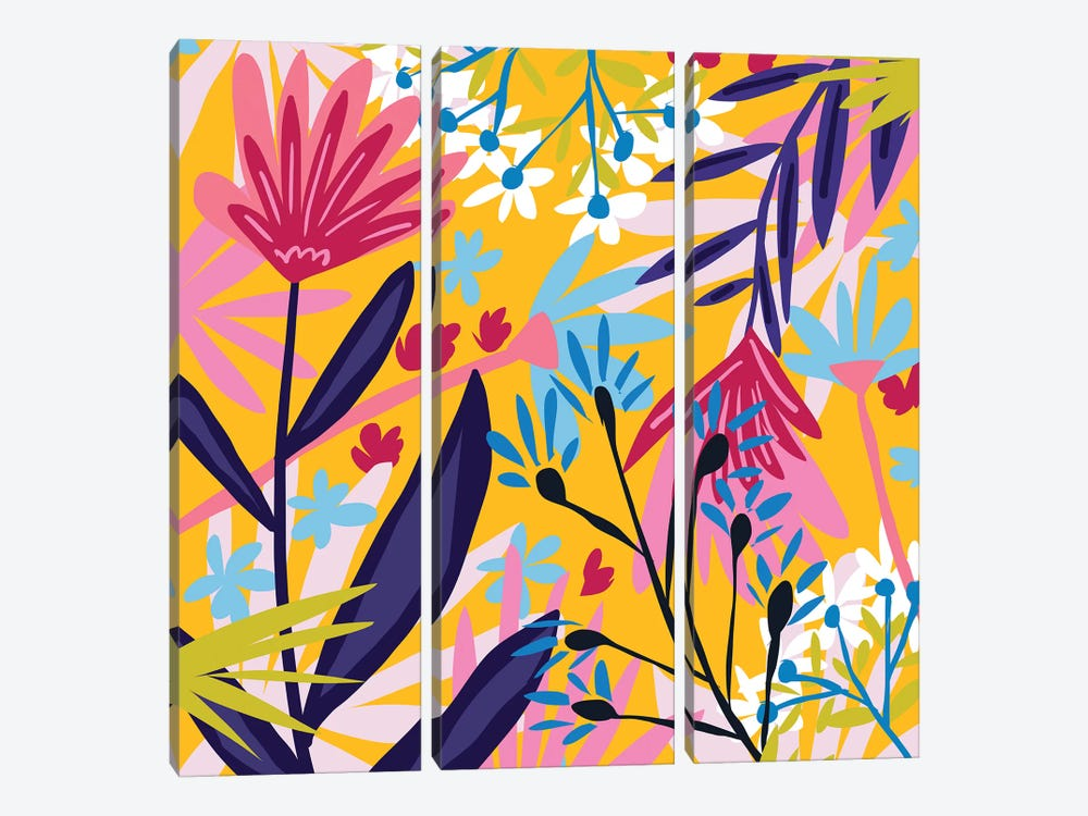 The Garden Of My Mind by 83 Oranges 3-piece Canvas Wall Art