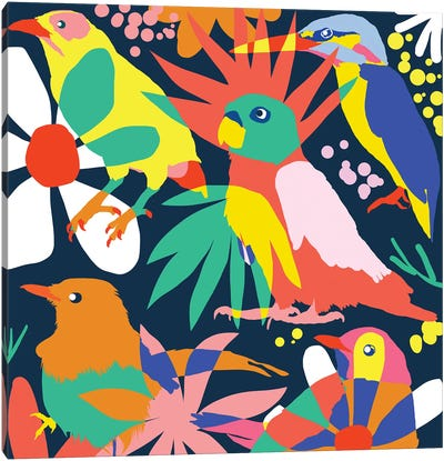 Flamboyant, Unashamed & Free Canvas Art Print
