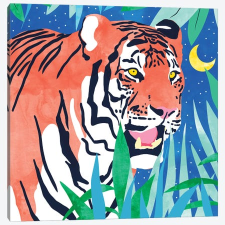 Tiger Forest Canvas Print #UMA386} by 83 Oranges Art Print