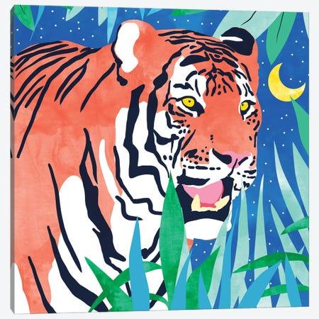 Tiger Forest Canvas Print #UMA386} by 83 Oranges Art Print