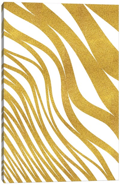 Golden Wave Canvas Print #UMA38