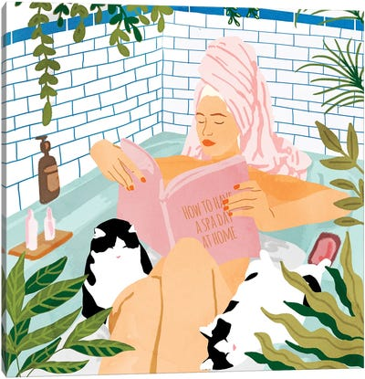 How To Have A Spa Day At Home Canvas Art Print