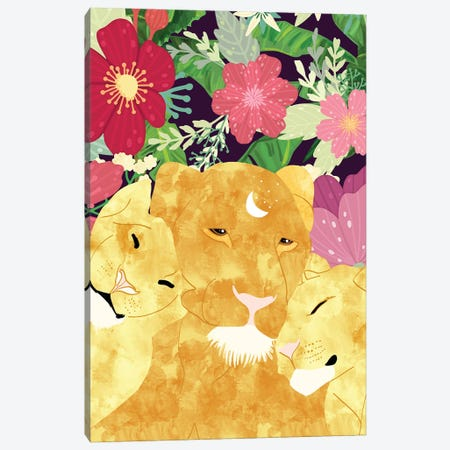 A Sincere Promise I Made To Myself, To Be Your Lioness When Things Are Messed Canvas Print #UMA430} by 83 Oranges Canvas Artwork