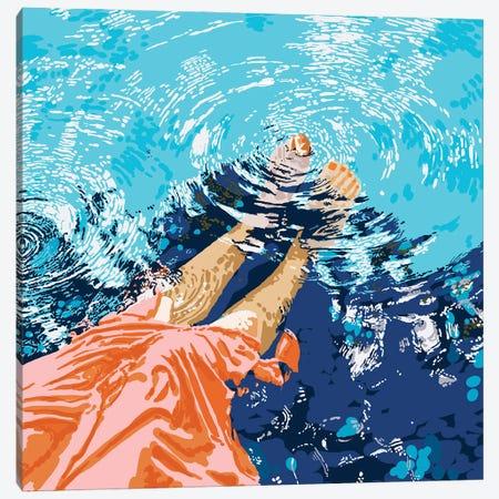 Take Me Where The Waves Kiss My Feet Canvas Print #UMA445} by 83 Oranges Canvas Art