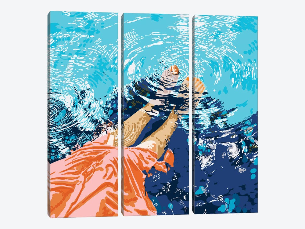 Take Me Where The Waves Kiss My Feet by 83 Oranges 3-piece Canvas Wall Art