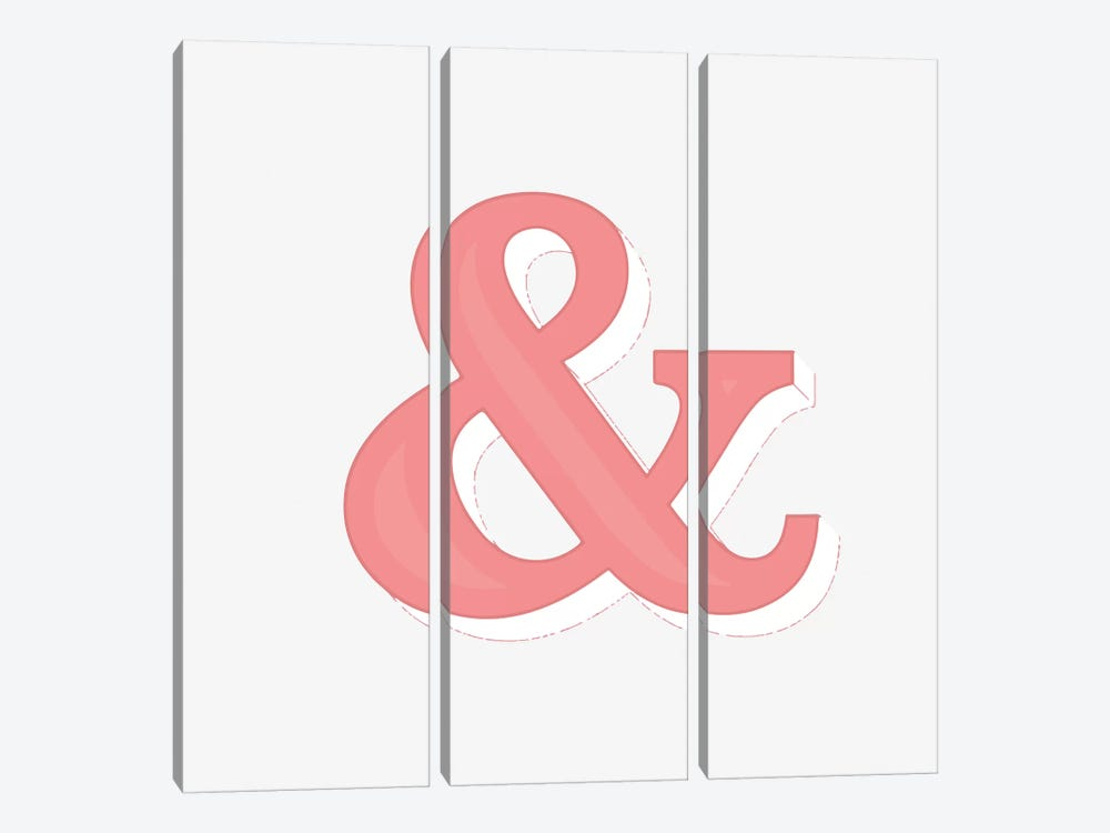 Just An Ampersand by 83 Oranges 3-piece Canvas Print