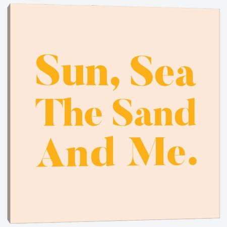 Sun, Sea, The Sand & Me Canvas Print #UMA451} by 83 Oranges Canvas Artwork