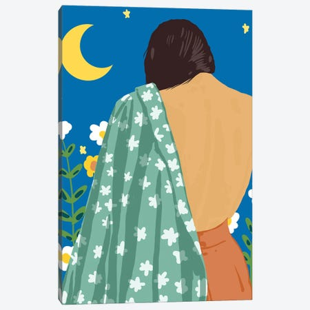 I Have Loved The Moon & The Stars Too Fondly To Be Fearful Of The Night Canvas Print #UMA457} by 83 Oranges Canvas Print