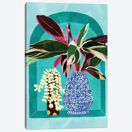 You Can't Buy Happiness But You Can Buy Plants & That's Pretty Much The Same Thing Canvas Print #UMA463} by 83 Oranges Art Print