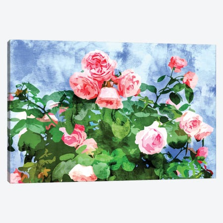 Love Planted A Rose & The Whole World Turned Sweet Canvas Print #UMA464} by 83 Oranges Canvas Artwork