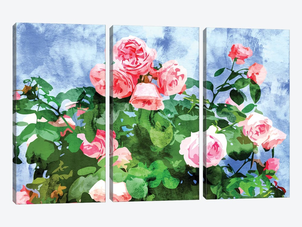 Love Planted A Rose & The Whole World Turned Sweet by 83 Oranges 3-piece Canvas Art Print