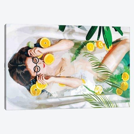 When All Else Fails, Take A Bath Canvas Print #UMA466} by 83 Oranges Canvas Wall Art