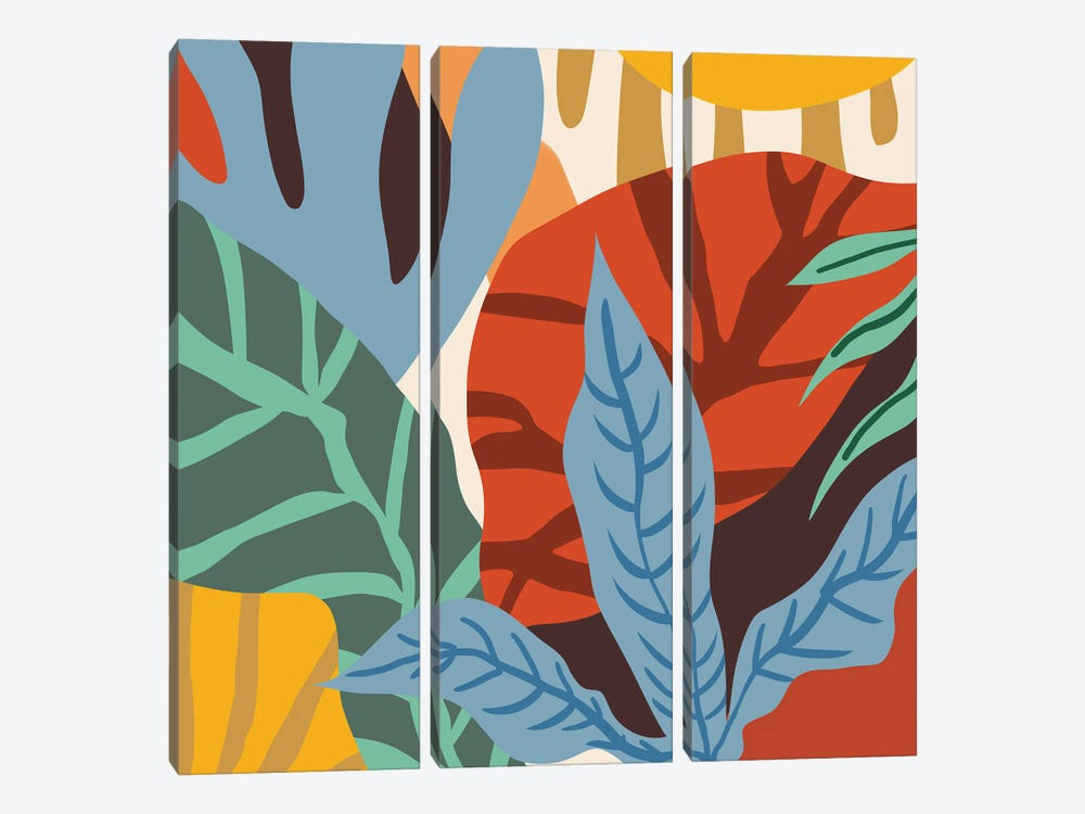 Wherever Life Plants You, Bloom With Grace by 83 Oranges 3-piece Canvas Print