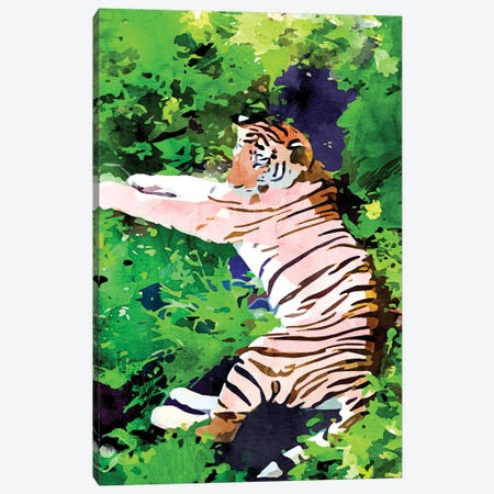 Blush Tiger Canvas Print #UMA471} by 83 Oranges Canvas Wall Art