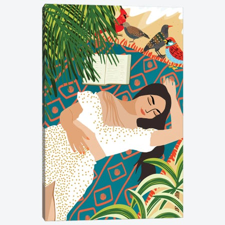 Beach. Read. Sleep. Repeat. Canvas Print #UMA474} by 83 Oranges Canvas Print