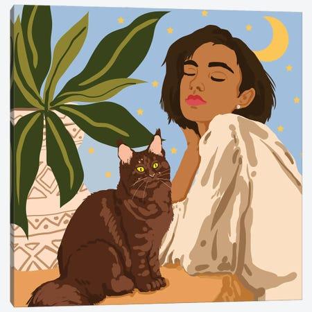 Proud Cat Mama Canvas Print #UMA475} by 83 Oranges Canvas Print