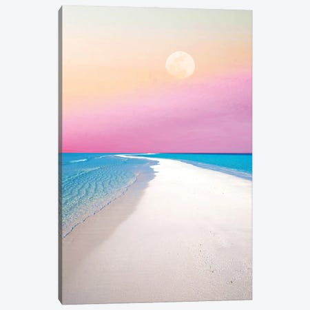 Ocean & Moon II Canvas Print #UMA488} by 83 Oranges Canvas Print