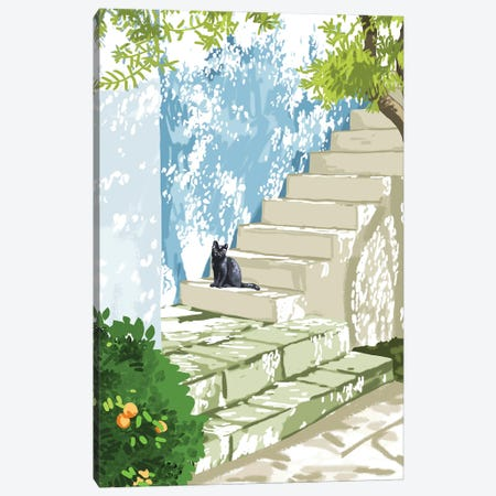 Being A Person Is Getting Too Complicated. It's Time To Be A Cat Canvas Print #UMA492} by 83 Oranges Canvas Wall Art