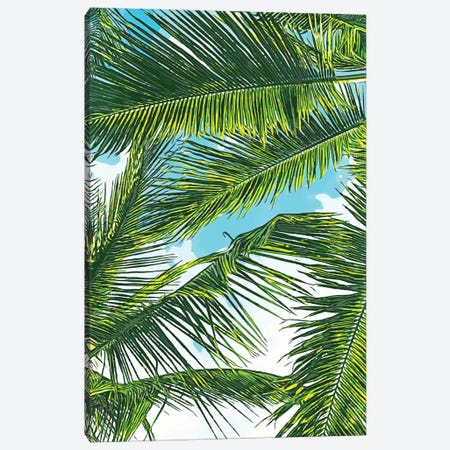 Life Is Better With Palm Tree Canvas Print #UMA499} by 83 Oranges Canvas Art