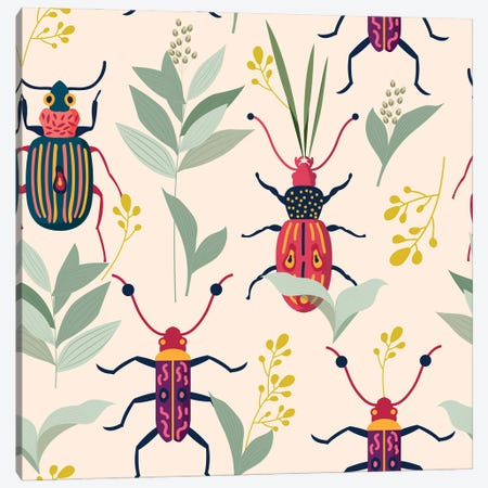 Summer Bugs Canvas Print #UMA501} by 83 Oranges Canvas Artwork