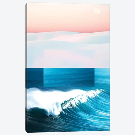 Ocean & Moon Canvas Print #UMA502} by 83 Oranges Canvas Art