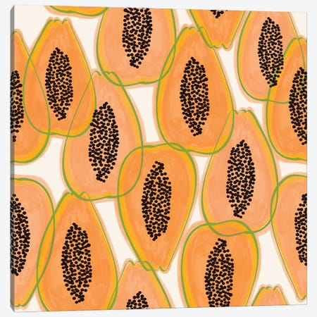 Papaya Cravings Canvas Print #UMA507} by 83 Oranges Canvas Art Print