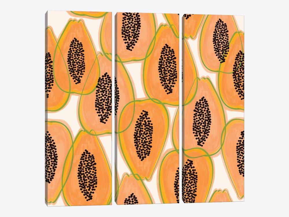 Papaya Cravings by 83 Oranges 3-piece Canvas Art Print