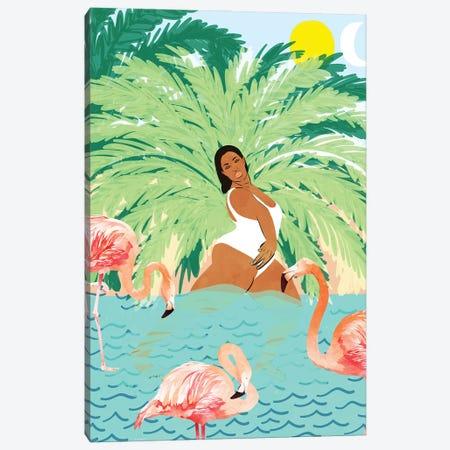 Water Yoga Canvas Print #UMA508} by 83 Oranges Canvas Wall Art