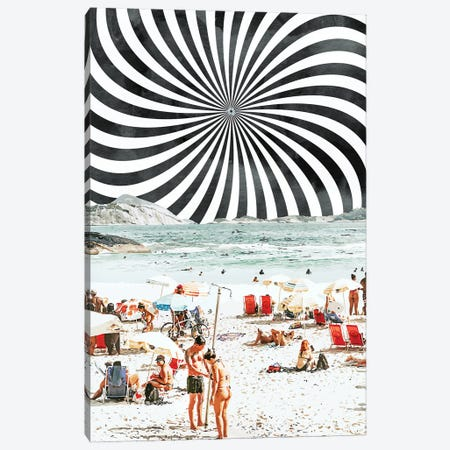 Summer On The Beach Canvas Print #UMA511} by 83 Oranges Art Print