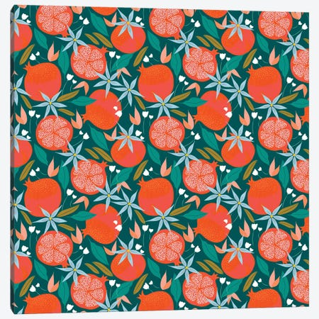 Summer Pomegranate Canvas Print #UMA519} by 83 Oranges Canvas Print