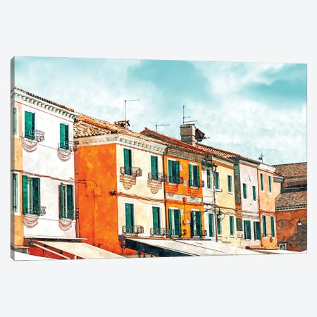 Burano Island Canvas Print #UMA530} by 83 Oranges Canvas Print