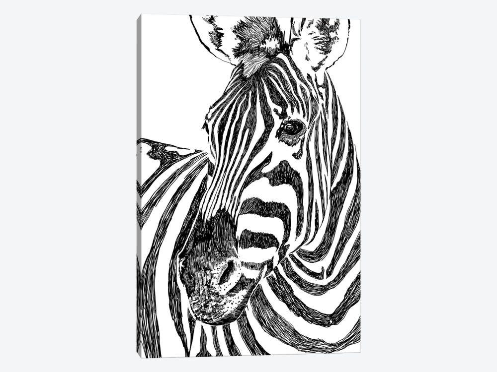 Zebra by 83 Oranges 1-piece Canvas Art