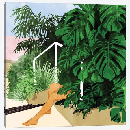 Hiding In Green Canvas Print #UMA534} by 83 Oranges Canvas Artwork