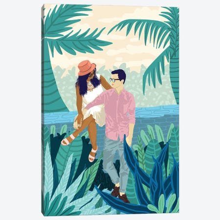 Tropical Romance Canvas Print #UMA536} by 83 Oranges Canvas Artwork
