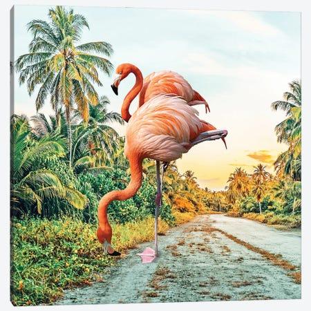 Flamingo Vacay Canvas Print #UMA554} by 83 Oranges Canvas Wall Art
