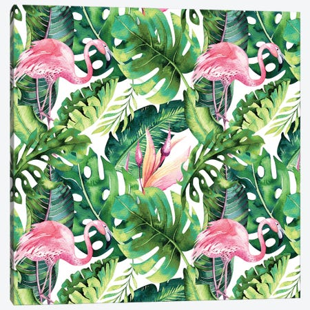 Flamingo Tropical II Canvas Print #UMA559} by 83 Oranges Art Print