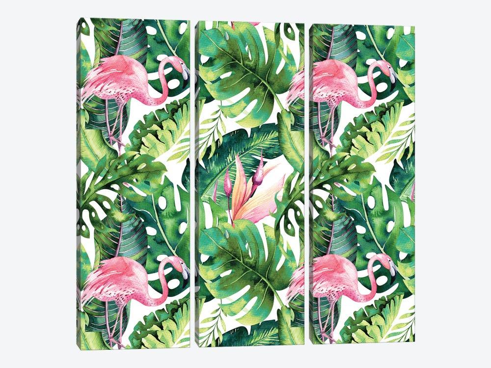 Flamingo Tropical II by 83 Oranges 3-piece Canvas Artwork