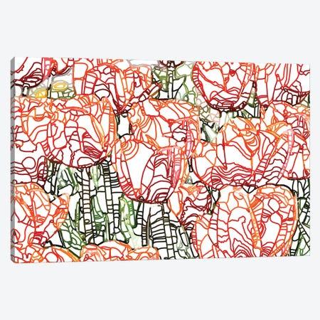 Tulip Garden Canvas Print #UMA566} by 83 Oranges Art Print