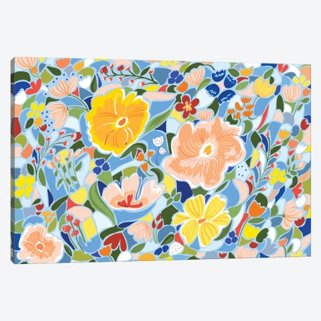 Summery Floral Canvas Print #UMA567} by 83 Oranges Art Print
