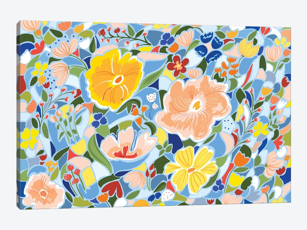 Summery Floral by 83 Oranges 1-piece Canvas Print