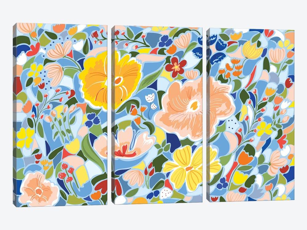 Summery Floral by 83 Oranges 3-piece Canvas Art Print