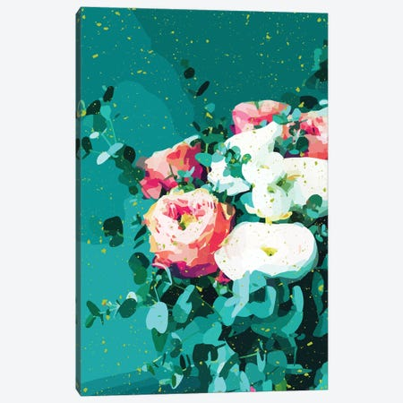 Floral & Confetti Canvas Print #UMA570} by 83 Oranges Canvas Print