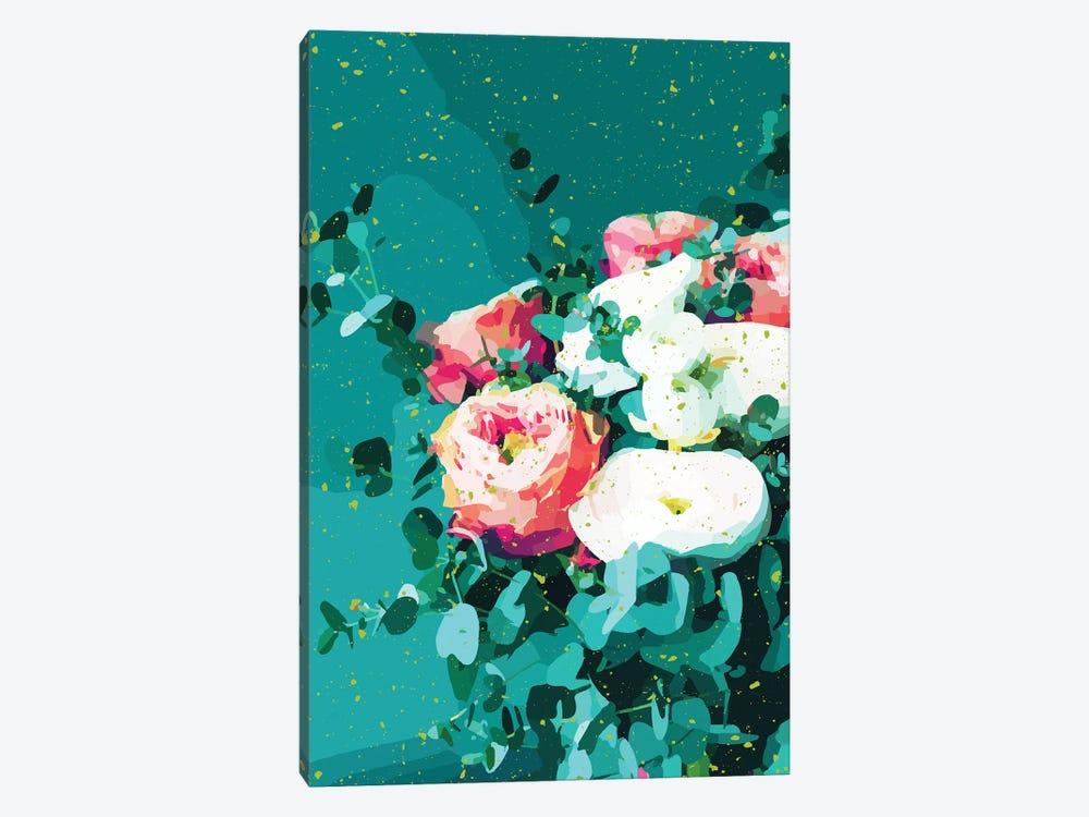 Floral & Confetti by 83 Oranges 1-piece Canvas Art Print