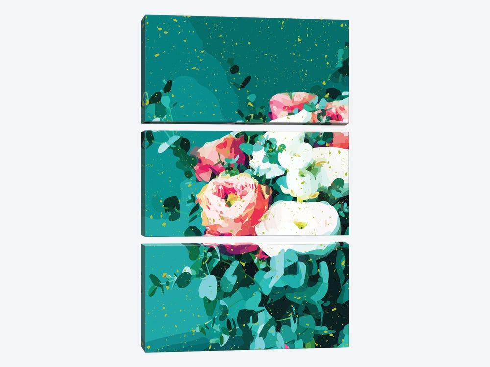 Floral & Confetti by 83 Oranges 3-piece Canvas Art Print