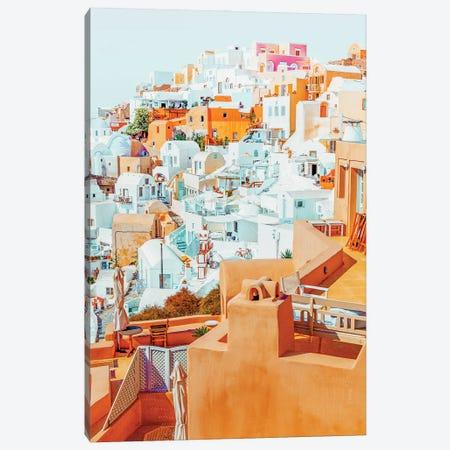 Santorini Vacay Canvas Print #UMA574} by 83 Oranges Canvas Artwork